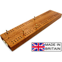 "Hardwood British cribbage board - 30cm (12"")"