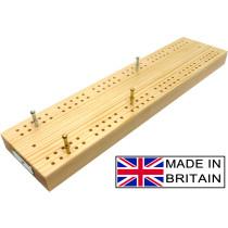 """Wooden British cribbage board - 30cm (12"""")"""
