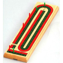 Two track cribbage board