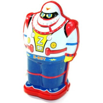 "Schylling Wind - up Tin Robot  - ""Z - BOT"""