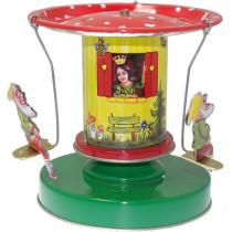 Snow White Carousel. Tin Toy / retro / clockwork fairground toy