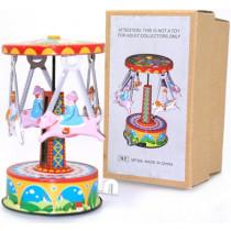 Animal Carousel. Tin Toy / retro / clockwork fairground toy