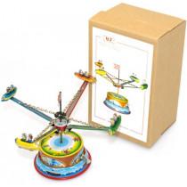 Small Rocket Carousel. Tin Toy / retro / clockwork fairground toy