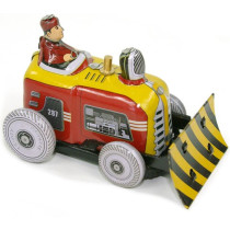Small Bulldozer. Tin Toy / retro / clockwork toy vehicle