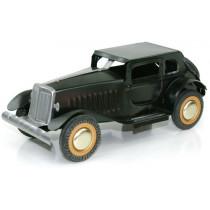 Classic Black Automobile. Tin Toy / retro / clockwork toy car