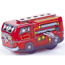 Small Fire Engine. Tin Toy / retro / clockwork toy vehicle