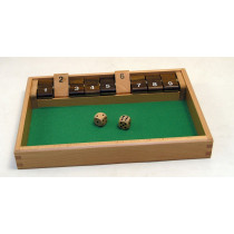 Deluxe wooden shut the box 9