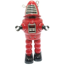 Red Sparking Space Robot