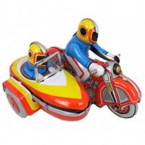 Motorcycle & Sidecar - Tin Toy / retro / clockwork toy vehicle