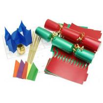 Deluxe Christmas Cracker Kit 35cm - Red & Green - 10 Pack