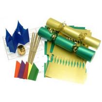 Deluxe Christmas Cracker Kit 35cm - Gold & Green - 10 Pack