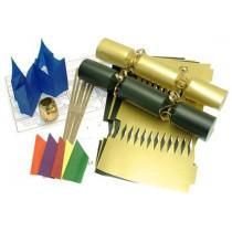Deluxe Christmas Cracker Kit  35cm - Gold & Black - 10 Pack
