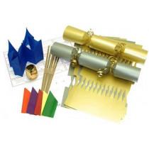 Deluxe Christmas Cracker Kit  35cm - Gold & Silver - 10 Pack