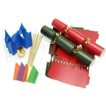 Deluxe Christmas Cracker Kit  35cm - Red & Black - 10 Pack