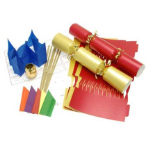 Deluxe Christmas Cracker Kit 35cm - Red & Gold - 10 Pack