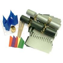 Deluxe Christmas Cracker Kit 35cm - Silver & Black - 10 Pack