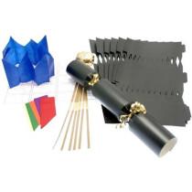 Deluxe Christmas Cracker Kit  35cm - Black - 10 Pack