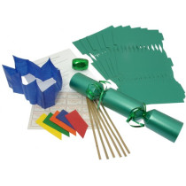 Deluxe Christmas Cracker Kit  35cm - Green - 10 Pack