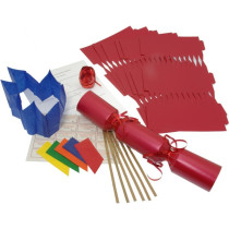 Deluxe Christmas Cracker Kit 35cm - Red - 10 Pack