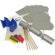 Deluxe Christmas Cracker Kit  35cm - Silver - 10 Pack