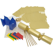 Deluxe Christmas Cracker Kit  35cm - Gold - 10 Pack