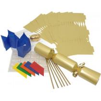 Birthday Party Cracker Kit 35cm - Gold - 6 Pack