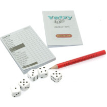 Miniature Yatzy dice game. Ideal Christmas Cracker filler