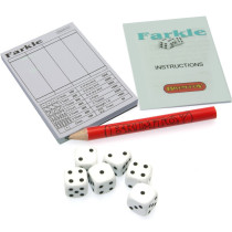 Miniature Farkle dice game. Ideal Christmas Cracker filler
