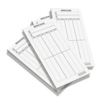 Bridge score card pads - club pack