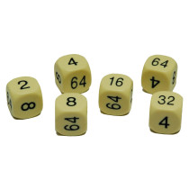 16mm spare Cream Urea doubling dice pack of 2