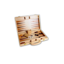 Wooden backgammon set 15""