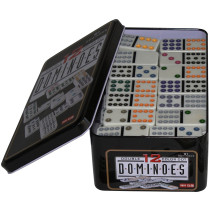 Double 12 dominos in Tin Case