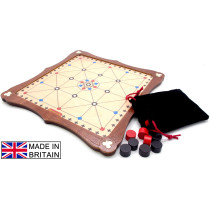 Alquerque traditional wooden board game