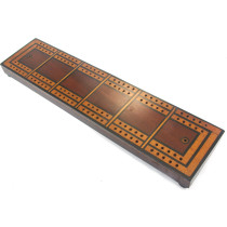 Extra large inlaid cribbage board
