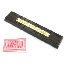 Wills's Gold Flake cribbage board