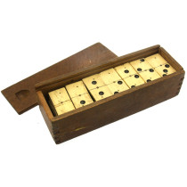Large Bone & Ebony dominoes