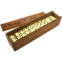 Double 9 Ebony & Bone dominoes