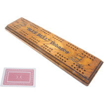 Blue Bell tobacco advertising cribbage board