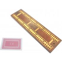 Large inlaid mahogany cribbage board