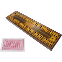 Inlaid antique cribbage board