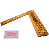 Extendable 3-track antique cribbage board
