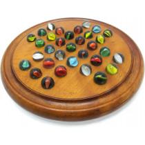 Antique wooden peg solitaire game