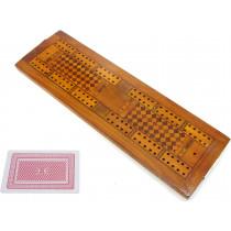 Inlaid antique cribbage board