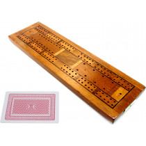 Inlaid Beechwood cribbage board
