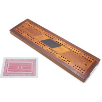 Inlaid cribbage board