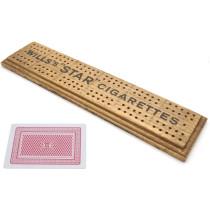 Wills's Star cribbage board