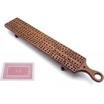 Antique carved cribbage board