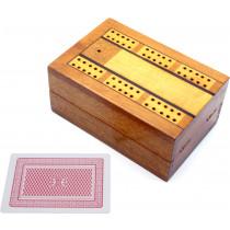 Inlaid antique cribbage box