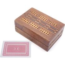 Inlaid cribbage box