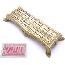 Large Brass shaped cribbage board